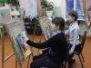 За мольбертом ученицы Ирины Гурьевны Семаковой.